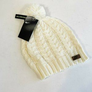 Nike Pale Ivory Sportswear Cable Knit Removable Po